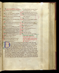 Chapter-List And Decorated Initial, In Rufinus's Latin Translation of Eusebius's 'Church History' f.43r